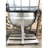 Stainless Steel Steam Jacketed Kettle, Approx 40in OAH x 45in OD | Sub to Bulk | Rig Fee: $150