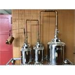 Moonshine Distillery 3-Vessel Display Still | Sub to Bulk | Rig Fee: $50 or HC