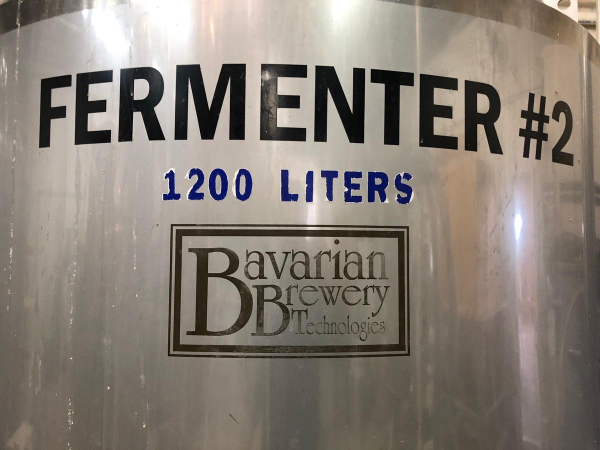 Lot 4 - 2008 Bavarian 1200L Fermenter, Vertical Agitation, Approx 8ft-2in OAH | Sub to Bulk | Rig Fee: $350