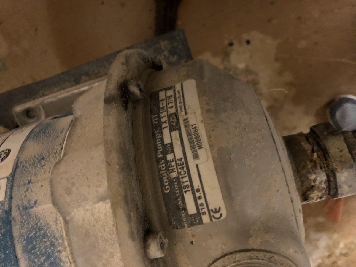 Lot 20B - Goulds Centrifugal Pump, NPE 1 X 1-1/4-6, 1ST1C4E4, 0.5Hp | Sub to Bulk | Rig Fee: $150