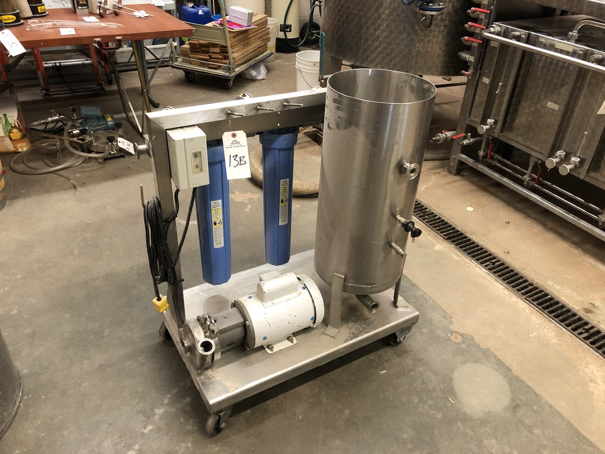 Lot 13B - Stainless Steel Mixing Skid with Centrifugal Pump and Cartridge (Addi   Sub to Bulk   Rig Fee: $50