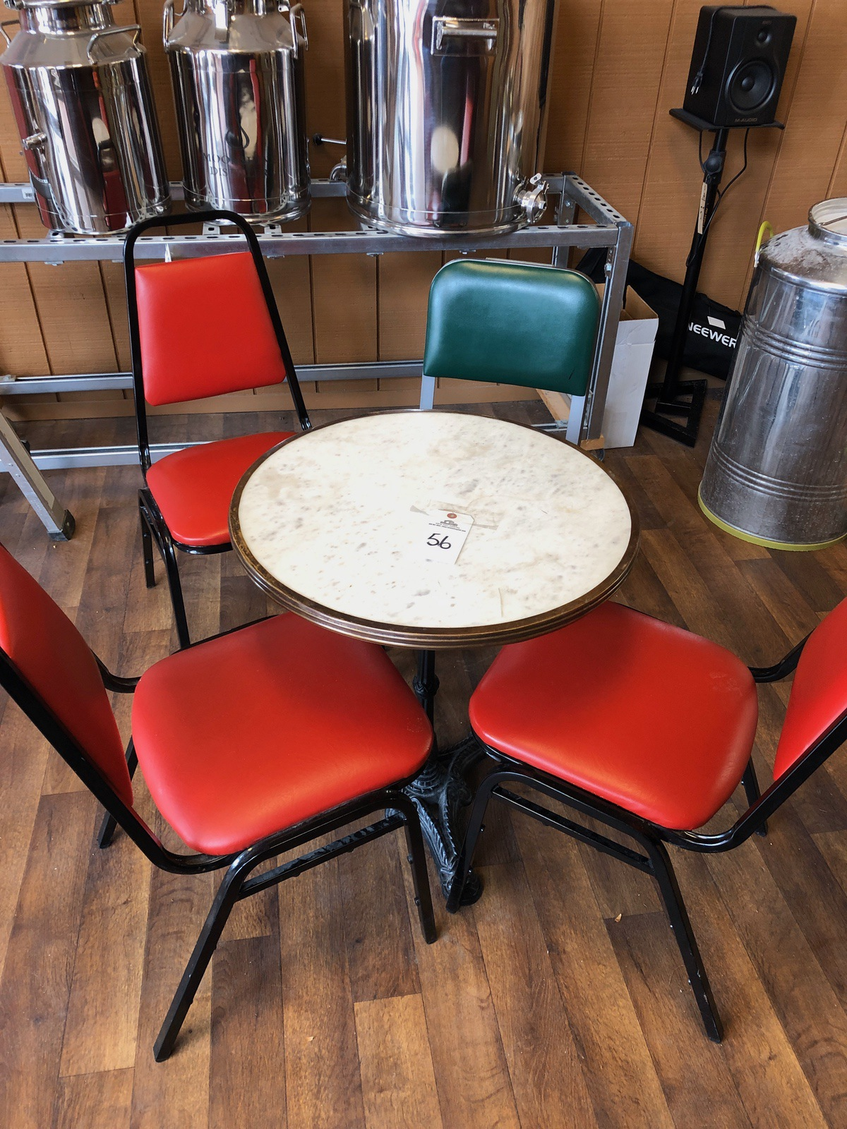 Lot 56 - Lot of Bistro Tables (2) and Chairs (5) | Rig Fee: $50 or HC