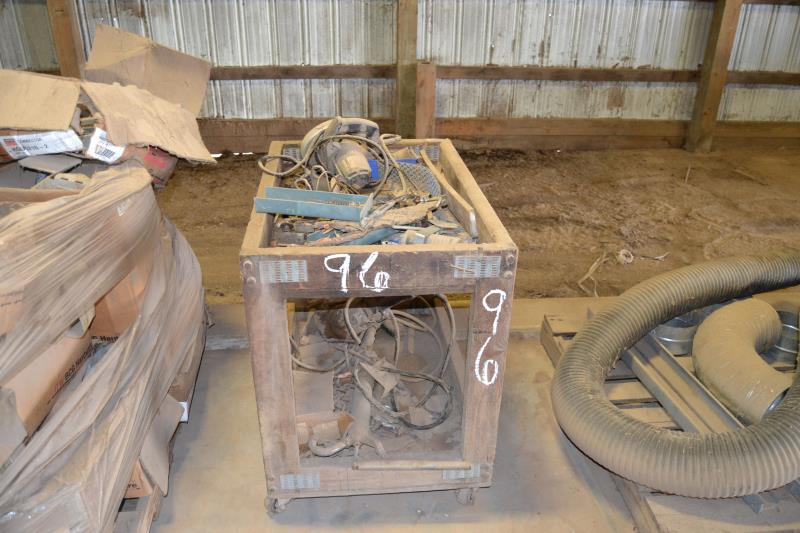 Lot 96 - CART W/ MISC PARTS