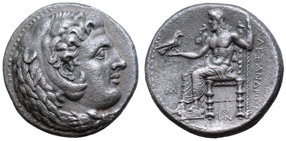 Lot 111 - Kingdom of Macedon, Alexander III 'the Great' AR Dekadrachm. Babylon, circa 325-323 BC. Head of