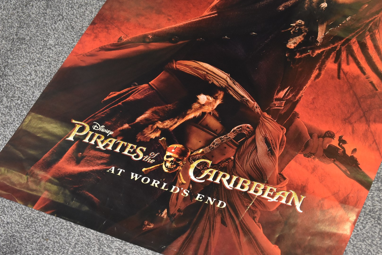Lot 4074 - 1 x Movie Poster - Pirates of the Caribbean At Worlds End - StarringOrlando Bloom, Keira Knightly