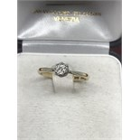 18ct GOLD 0.20ct DIAMOND SOLITAIRE RING