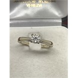 0.50ct DIAMOND SOLITAIRE RING SET IN 9ct GOLD SIZE Q