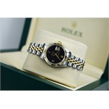 ROLEX 'LADY DATEJUST' 26MM - STEEL & 18K GOLD WITH ✦ RARE DIAMOND DIAL