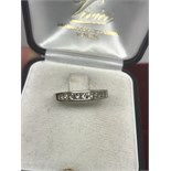 1/2 ETERNITY DIAMOND RING IN WHITE METAL TESTED AS AT LEAST 9ct GOLD