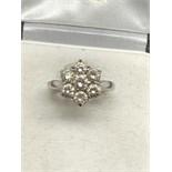 18ct WHITE GOLD 1.50ct DIAMOND CLUSTER RING