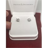 2.10cts DIAMOND EARRINGS SET IN 18ct WHITE GOLD