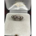 9ct GOLD SAPPHIRE & DIAMOND FULL ETERNITY RING