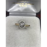 10ct GOLD DIAMOND CLUSTER RING