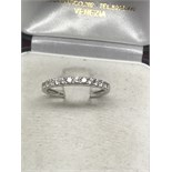 18ct WHITE GOLD 1/2 ETERNITY RING - HIGH QUALITY DIAMONDS