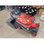 A Flymo Roller Compact 40 240v rotary lawnmower with collection bag
