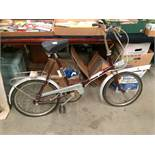A vintage Universal folding bicycle