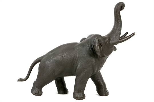 A JAPANESE BRONZE ELEPHANT  By Genryusai Seiya, Meiji Period  Cast