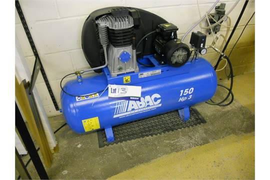 abac 150 hp3 model pro a39b 150 ft3 receiver mounted air compressor rh bidspotter co uk