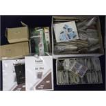 Stamps & accessories, large quantity of GB commends in packets, a box of GB definitives, used off