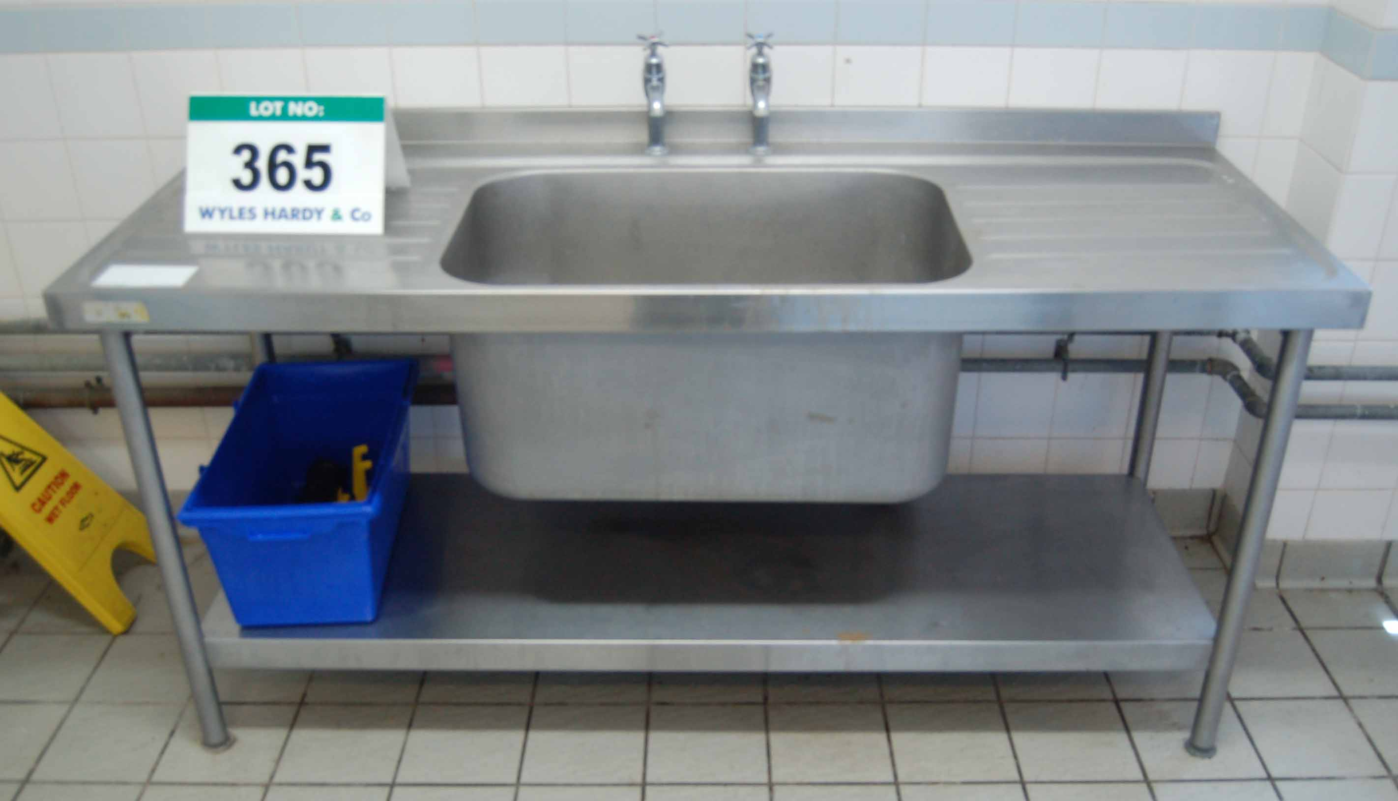 Stainless steel sink units stainless steel double drainer sink -  Steel Sink Unit With Fitted Next Lot Lot 365 A Bartlett B Line Single Bowl Double Drainer Free Standing Stainless