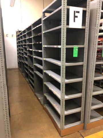 "Lot 1037 - (49) Sections Adjustable Metal Shelving w/Approx 10 Shelves Per Section 36""x 242""x 82"