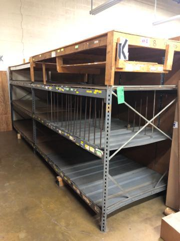 "Lot 1039 - Commercial Metal Rack 200""x 51""x 80""."