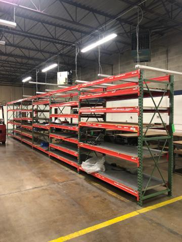 "Lot 1051 - Commercial Pallet Rack, To include: 7 UP Rights 36""""x 96""x3"", (64) Pallet Rack Beam, 87"" x 3""."