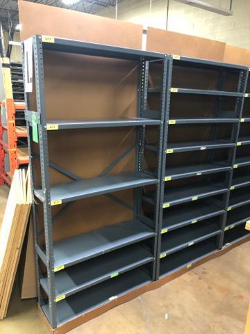 "Lot 1040 - Commercial Storage Metal Rack 12""x 245""x 75"""