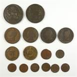 Konvolut Münzen, Frankreich, Republik: 1 Sol, Belagerungsmünze der Stadt Mainz, Jahr 2; 1 Sol,