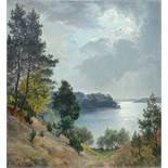 "Erna Krüger (1883, Wittenberg-1973) ""Märkische Uferlandschaft bei Sonnenaufgang"", Öl/Leinwand, HB"