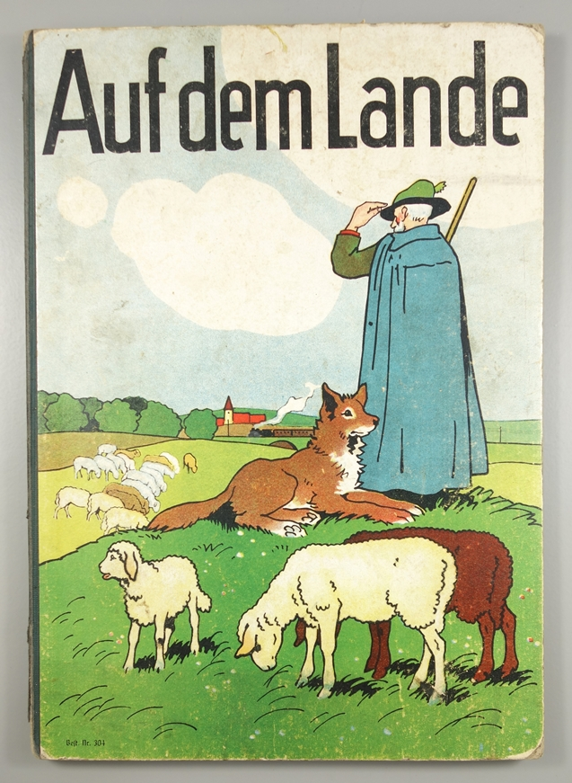 """""""Auf dem Lande"""" Kinderbuch, Nr.304, um 1930/1940, ohne Verlagsangabe, ohne Jahreszahl; Pappe, 8"""