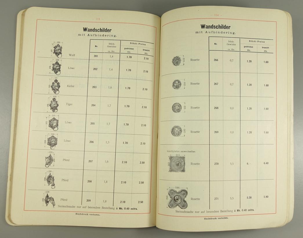"""2 Kataloge """"Eisenhütten- und Emaillirwerk Tangerhütte"""", Nr. 14 und Nr.22, um 1900, Franz - Bild 3 aus 3"""