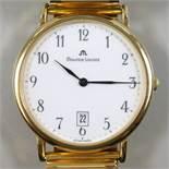 Armbanduhr Maurice Lacroix Classic 90684, vergoldetes Gehäuse, weißes Zifferblatt mit arabischen
