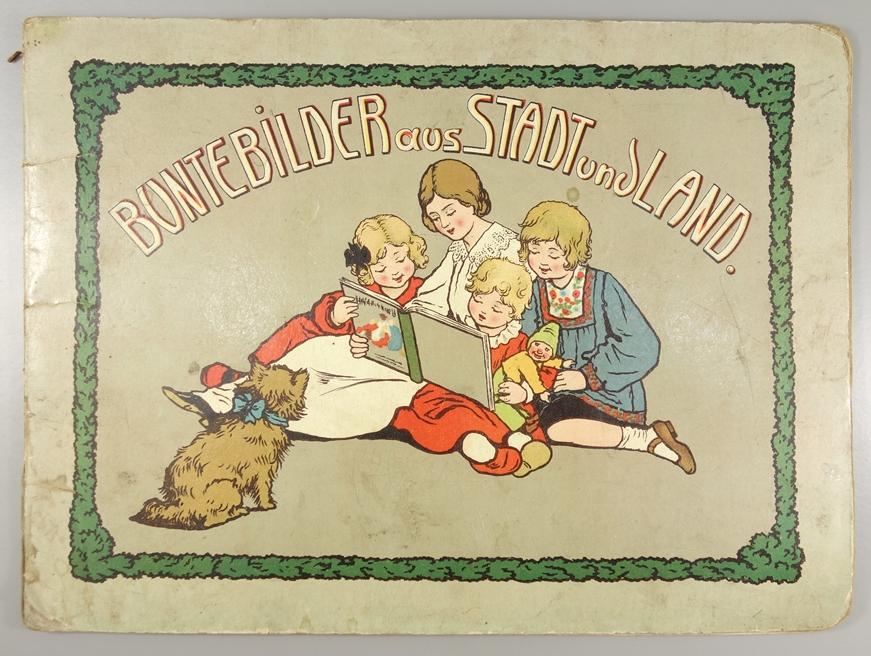 """""""Bunte Bilder aus Stadt und Land"""", seltenes Kinderbuch, Jugendstil um 1910/20, ohne Verlagsangabe,"""