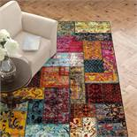 Latitude Vive,Jeanne Red/Yellow/Blue Rug ,RRP - £162.99 (BRBA8506 - 17454/8)