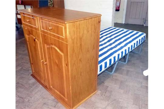 Folding Guest Bed In A False Pine Cupboard Condition