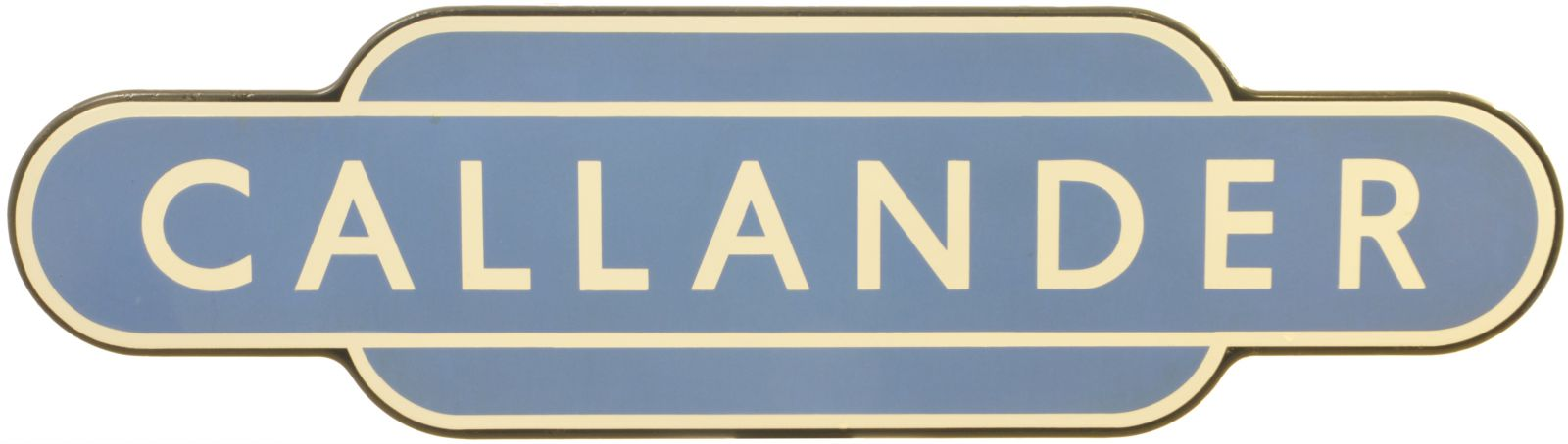 Lot 46 - Railway Station Totem Signs, Callander: A BR(Sc) totem sign, CALLANDER, (f/f) from the Dunblane to