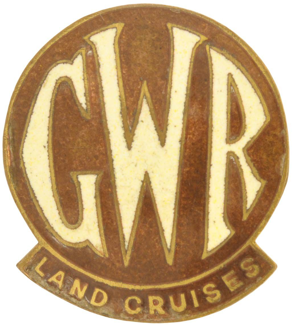 Lot 45 - Railway Badges, GWR Land Cruises: A GWR staff lapel badge, GWR LAND CRUISES, enamelled brass 1''