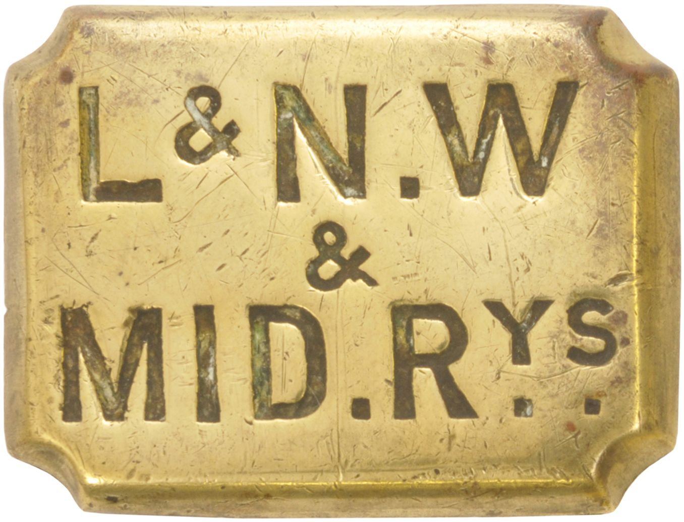Lot 27 - Horse Brasses, LNW & Mid Rys: A London & North Western and Midland Railways horse brass. (