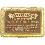 Lot 32 - Railway Office and General Equipment, GWR Swindon Vesta Case: A Vesta case, SWINDON GWR STATION,