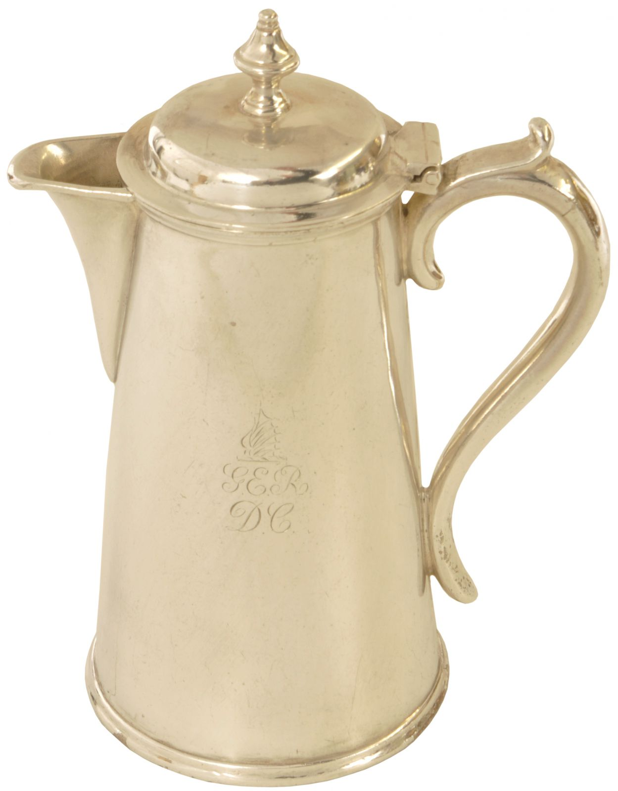 Lot 23 - Silverware, GER Coffee Pot: A Great Eastern Railway Dining Cars silver plated coffee pot by