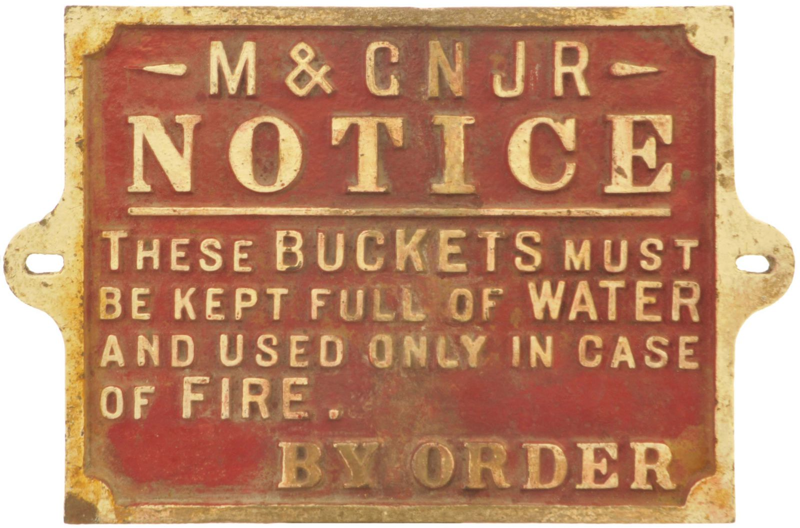 Lot 55 - Cast Iron Railway Signs, M&GN Fire Buckets: A Midland & Great Northern Joint Railway fire buckets
