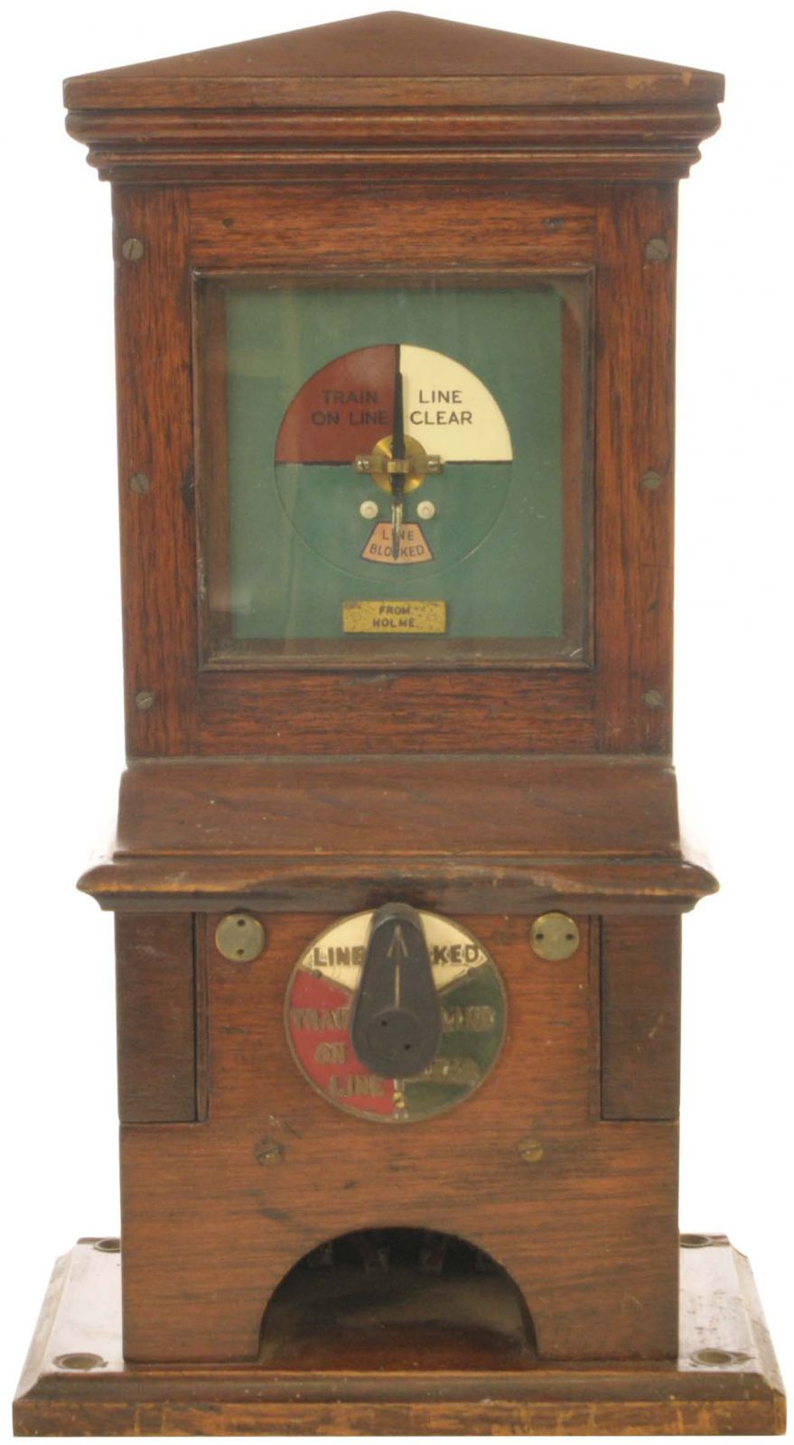 Lot 2 - Railway Signal Box Instruments, GNR Block, Holme: A Great Northern Railway block instrument with