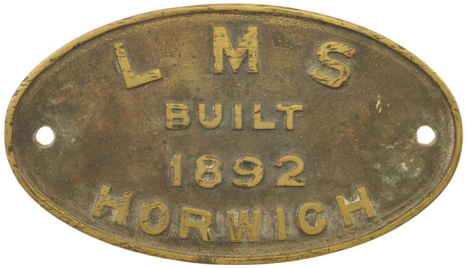 Lot 8 - Railway Locomotive Worksplates (Steam), LMS, Built Horwich, 1892 (52171): A worksplate, LMS BUILT