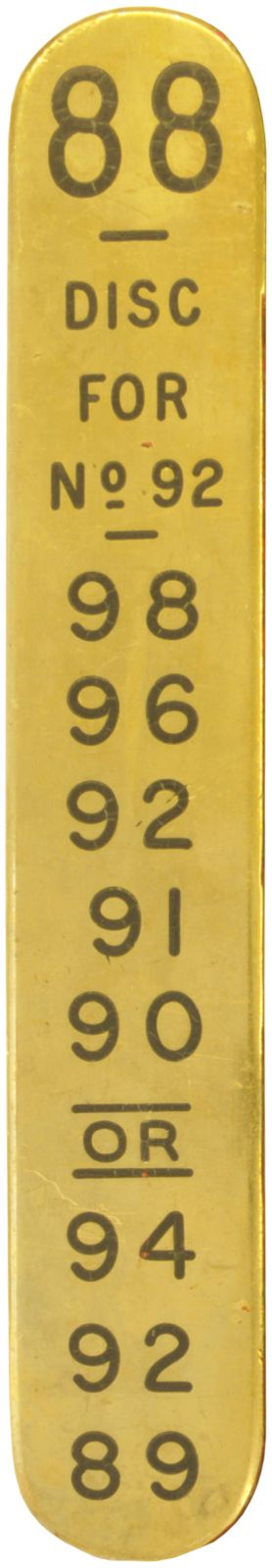 Lot 56 - Signal Lever Plates, Tiverton Starting, GWR (3): A group of GWR lever plates from Tiverton