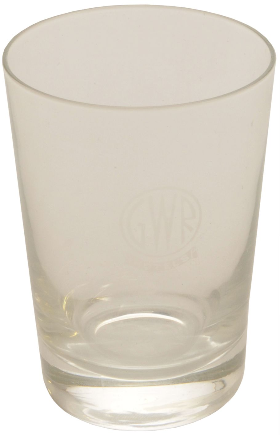 Lot 11 - Glassware, GWR Hotels Whisky Tot: A GWR Hotels whisky glass, 3½'' tall, the side marked with the