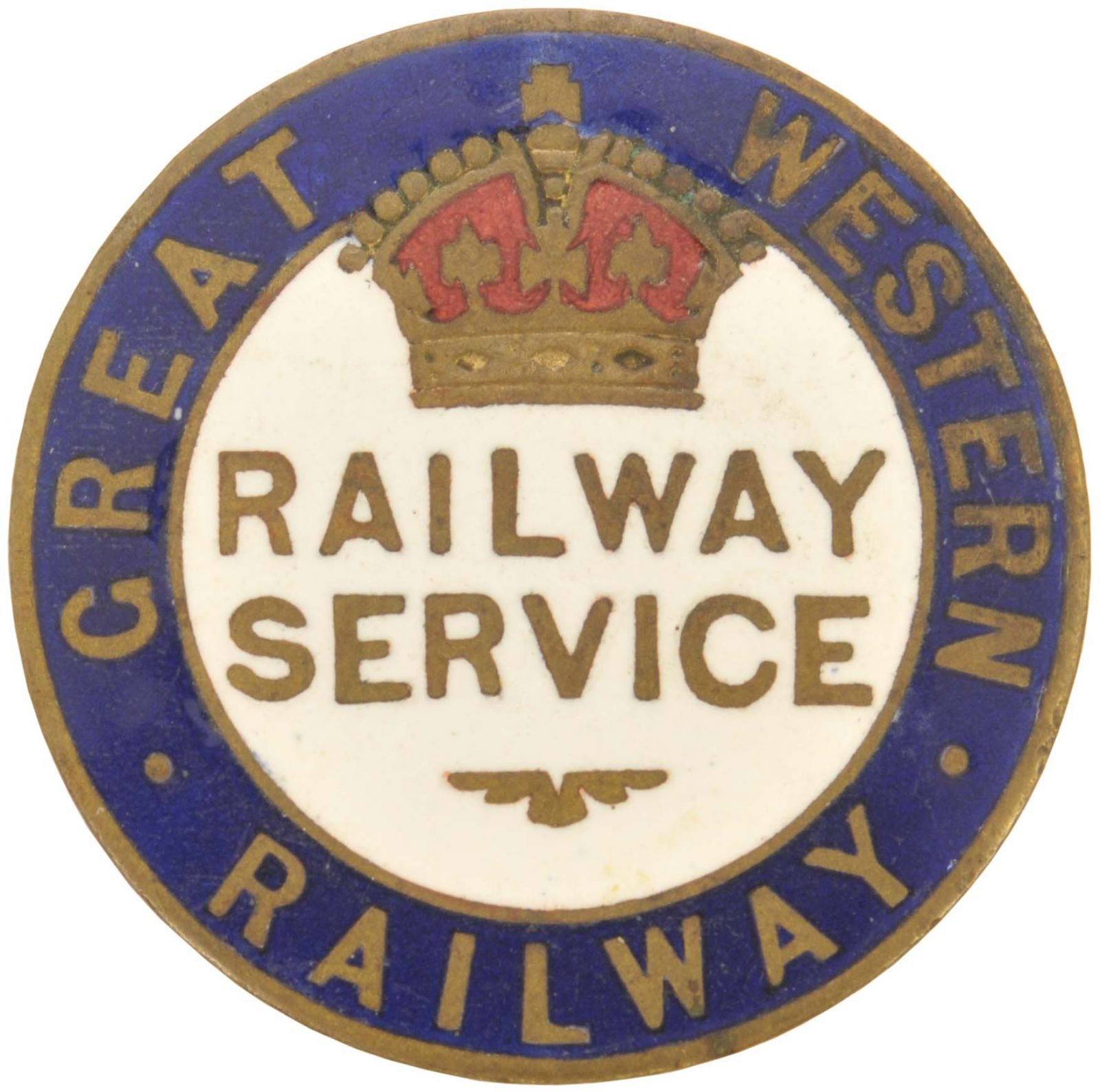 Lot 41 - Railway Badges, GWR, 1WW: A GWR, Railway Service badge, issued to staff in reserved occupations