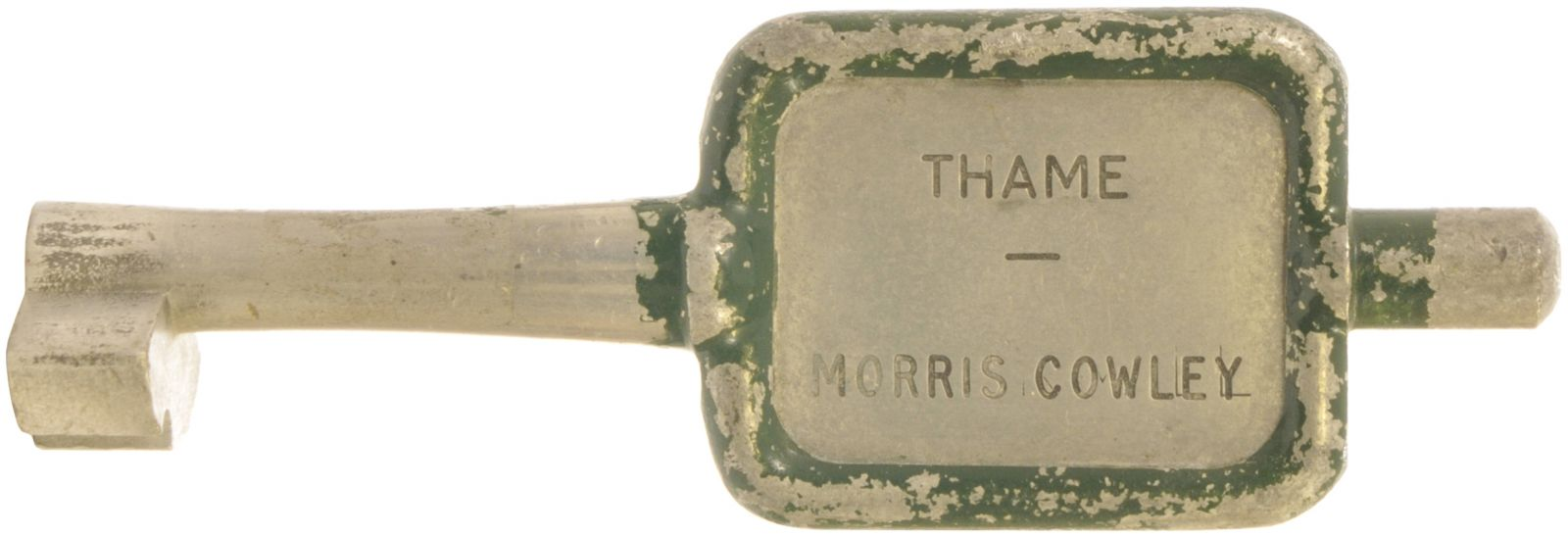 Lot 6 - Single Line Keys, Thame - Morris Cowley: A single line key token, THAME-MORRIS COWLEY, (alloy), from