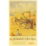 Lot 37 - Railway Posters, Burnham on Sea, Critchlow: A BR(W) double royal poster, BURNHAM ON SEA, by