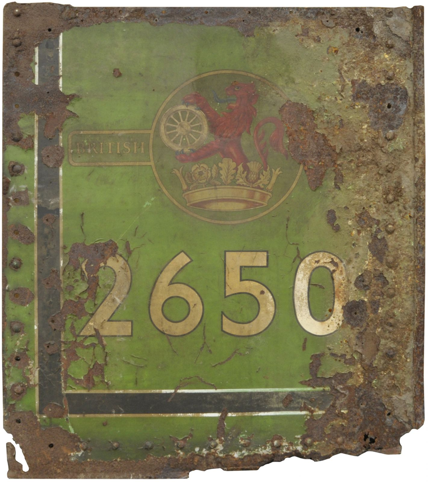 Lot 51 - Railway Locomotive and Rolling Stock, 26501 Flamecut & NER Crest: A flamecut cabside panel from